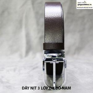 bán dây nịt nam thắt lưng giá rẻ da bò xuất khẩu 004