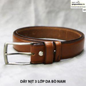 bán dây nịt nam thắt lưng giá rẻ da bò xuất khẩu 002