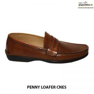 Giày da nam loafer cnes xk002 cao cấp xuất khẩu 001