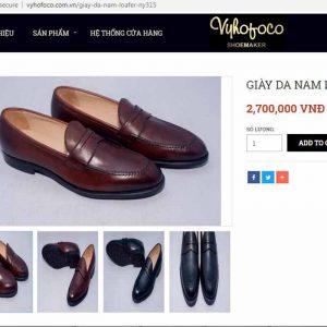 Giá niêm yết Giầy lười da bò nam Loafer Vyhofoco VH1903