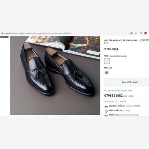giá giày Giày nam da bò Loafer ROGER LF104 size 42