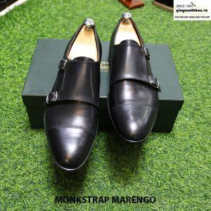 Giày tây da nam Monk Strap Marengo size 41 cao cấp thủ công 012