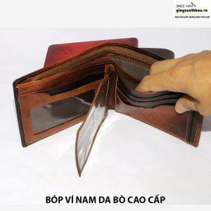 Bóp ví nam da bò đựng tiền giá rẻ Vyhofoco VN118 005