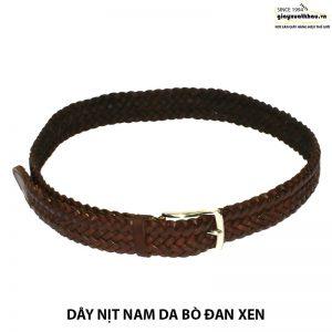 Dây thắt lưng nam đan xen xuất khẩu giá rẻ DN205 004