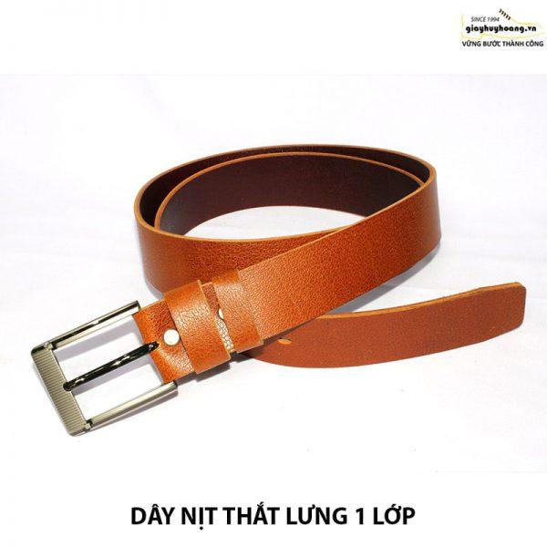 Bán dây nịt nam thắt lưng da bò giá rẻ 1 lớp 006