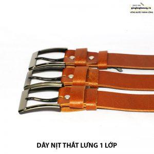 Bán dây nịt nam thắt lưng da bò giá rẻ 1 lớp 005