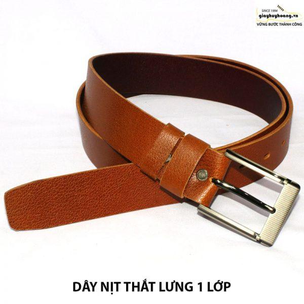 Bán dây nịt nam thắt lưng da bò giá rẻ 1 lớp 004