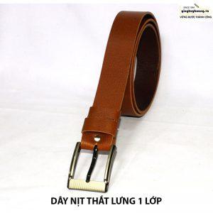 Bán dây nịt nam thắt lưng da bò giá rẻ 1 lớp 003