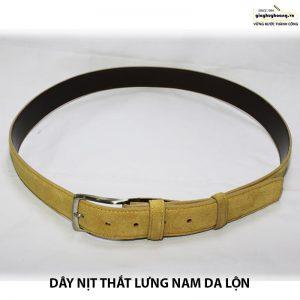 Bán dây nịt thắt lưng nam da bò da lộn cao cấp huy hoàng 012