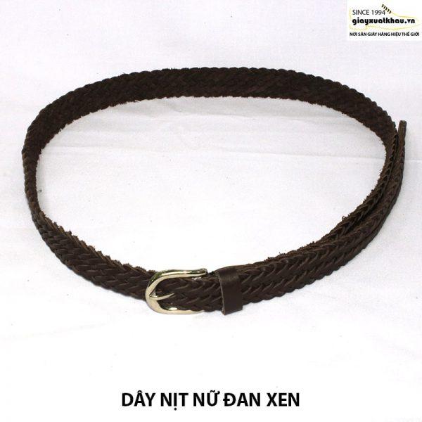 Bán dây nịt nữ dây thắt lưng đan xen thủ công DN208 003