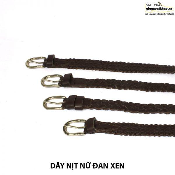 Bán dây nịt nữ dây thắt lưng đan xen thủ công DN208 001