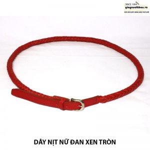 Bán dây nịt thắt lưng nữ tròn đan xen DN209 giá rẻ 005