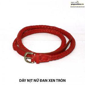 Bán dây nịt thắt lưng nữ tròn đan xen DN209 giá rẻ 001