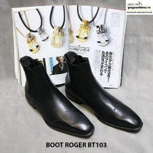 Giày chelsea boot thun cổ cao Roger BT103 Size 40 001