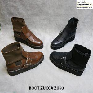 Giày đế cao boot cổ cao nam Zucca zu93 001