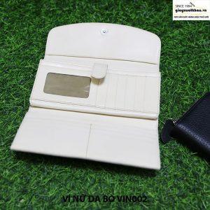 Bóp ví cầm tay nữ da bò VIN002 chính hãng 004