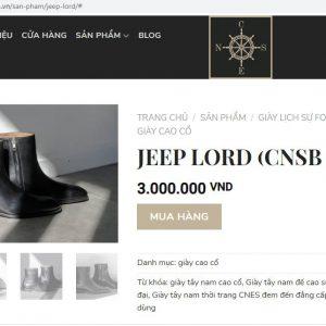 giá niêm yết Giày boot nam dây kéo CNES CNSB98 size 42