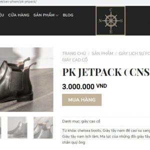 giá niêm yết Giày boot thun nam chelsea CNES cnsb106 Size 38