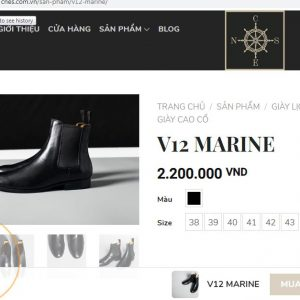 giá niêm yet1 Giày boot nam cổ cao CNES V12 size 40 001