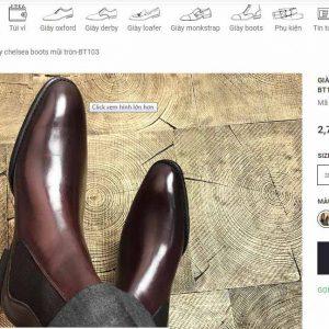 giá niêm yết Giày chelsea boot thun cổ cao Roger BT103 Size 40
