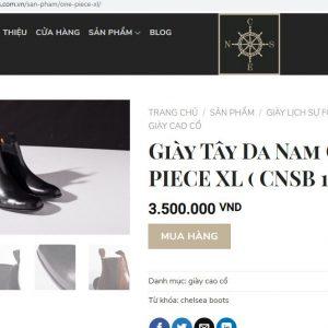 giá niêm yết Giày nam cổ cao cnes CNSB105 size 41