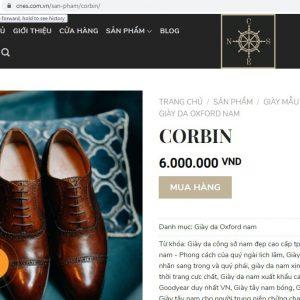 Giá niêm yết Giày da nam Oxford CNES D900 Size 37