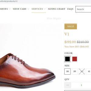 Giá niêm yết giày tây da bò nam oxford cnes m1949