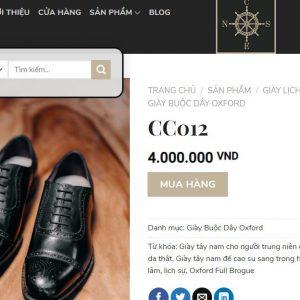 giá niêm yết Giày tây nam cột dây Oxford CNES 300D size 42 001
