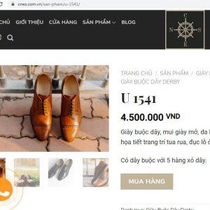 giá niêm yết Giày Derby nam giá rẻ CNES U1541 Size 40 001