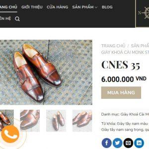 giá niêm yết Giày da bò quai Monkstrap CNES L0003 size 36 001