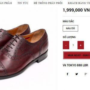 giá niêm yết Giày da Oxford Brogue giá rẻ 888