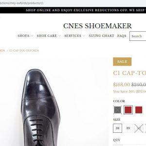 giá niêm yết Giày oxford nam mũi vuông CNES 75343 Size 39 001