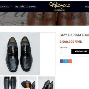 giá niêm yết Giày lười da dê Loafer vyhofoco 4232 001