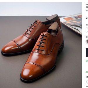 bảng giá niêm yết Giày Oxford nam thật OF122 Size 40 + 41 001