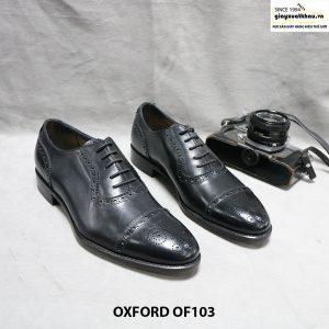 Giày da nam oxford thủ công OF103 size 38 001