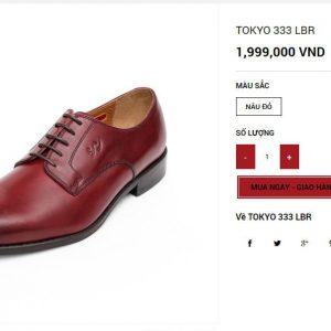 Giày tây buộc dây Oxford Tokyo 333 004