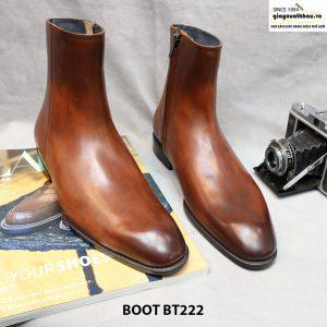 Giày Boot da bò có dây kéo BT222 001