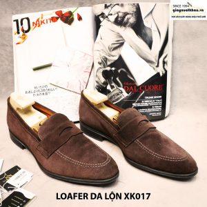 Giày lười Penny loafer nam da lộn XK017 Size 46 001