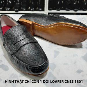 Giày lười nam đế da Loafer cnes 1801 size 37 002
