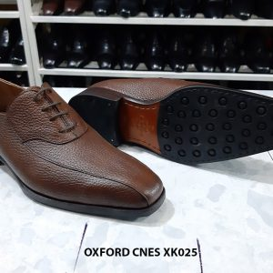 Giày buộc dây da hột Oxford Cnes XK025 Size 36 002