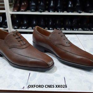 Giày buộc dây da hột Oxford Cnes XK025 Size 36 001