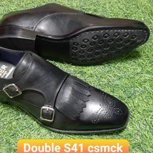 Giày monkstrap đế cao su Double Size 41