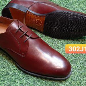 Giày tây nam buộc dây Derby đỏ đô 302J18 Size 41
