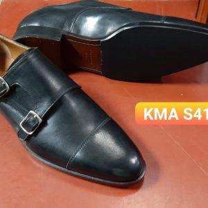 Giày da nam monkstrap 2 khoá KMA Size 41
