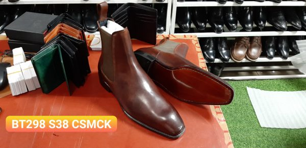Giày da nam cổ cao Boot BT298 Size 38 001
