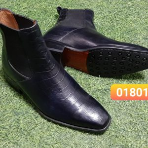 Giày Boot da dập vân nam CNES 01801 Size 36