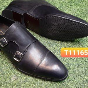 Giày da nam bóng đẹp Monkstrap T11165 size 44
