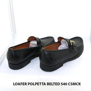 Giày lười loafer da hột mềm Polpetta Belted Size 40 004