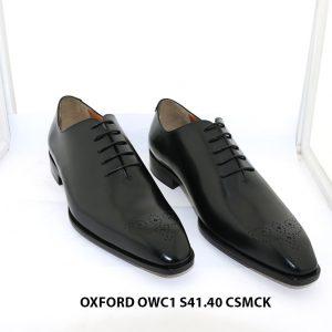 Giày da nam da trơn Oxford OWC1 size 41+40 001