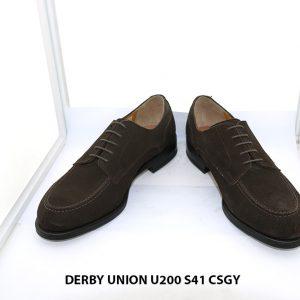 Giày da nam da lộn Derby UNION UR200 size 41 002